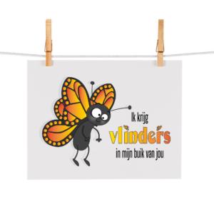 Bonteboel Illustraties Webshop Ansichtkaarten VlindersInMijnBuik