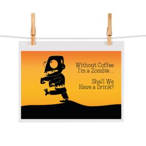 Bonteboel Illustraties Webshop Ansichtkaarten ZombieWithoutCoffee