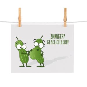 Bonteboel Illustraties Webshop Ansichtkaarten Zwanger